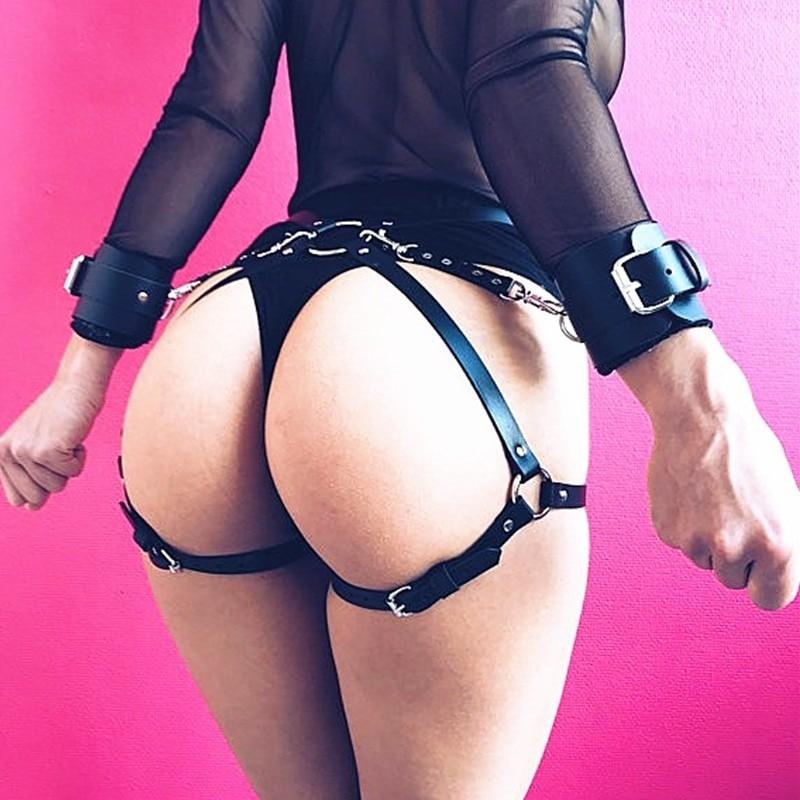 Harajuku Sexy Trend Bound Belt Bracelet Leg Loops One Punk Leisure Couple Charm Bracelet Belt Waist Chain