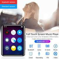 4GB 8GB 16GB bluetooth 5.0 Portable Mini Full Touch Screen MP3 Music Player Support FM Radio E book Video Play Dictionary