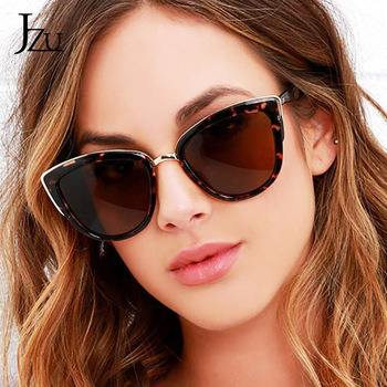 JZU 2019 New Cat eye Sunglasses Women Sexy Luxury Brand Designer Vintage Gradient Retro Eyewear cateye women Fashion