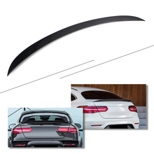 Car Tail Wing Rear Trunk Lip Spoiler Trim For 2016 2017 2018 Mercedes Benz GLC GLC200 GLC300 GLC260 GLC43 Coupe Glossy Black ABS