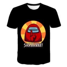 3D Among Cartoon Us Baby Kids Boys Girls amoung Children us T Shirt Short Clothing Sleeves Summer Among Us Print Tee chucky