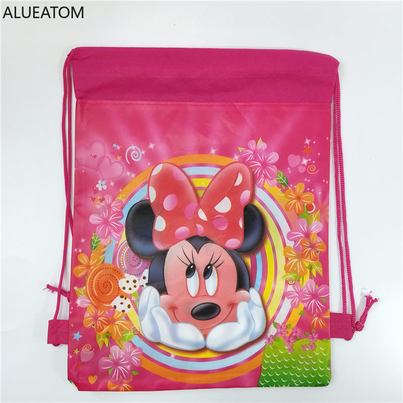 1pc Cartoon School Bag For Boy Girl Drawstring School Backpack Birthday Gift Bag Student Book Bag