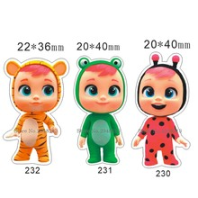 50pcs Mixed Lovely New Cartoon Doll baby Flatback Resin Planar Cabochon for DIY Craft 1.2inch RETS 230