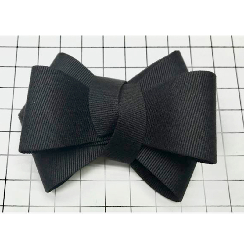 1 Pair Fabric Bow Shoe Charm Shoe Accessories Women High Heels Shoes Decorations Bowknot S Bow DIY Dark Blue Beige Black