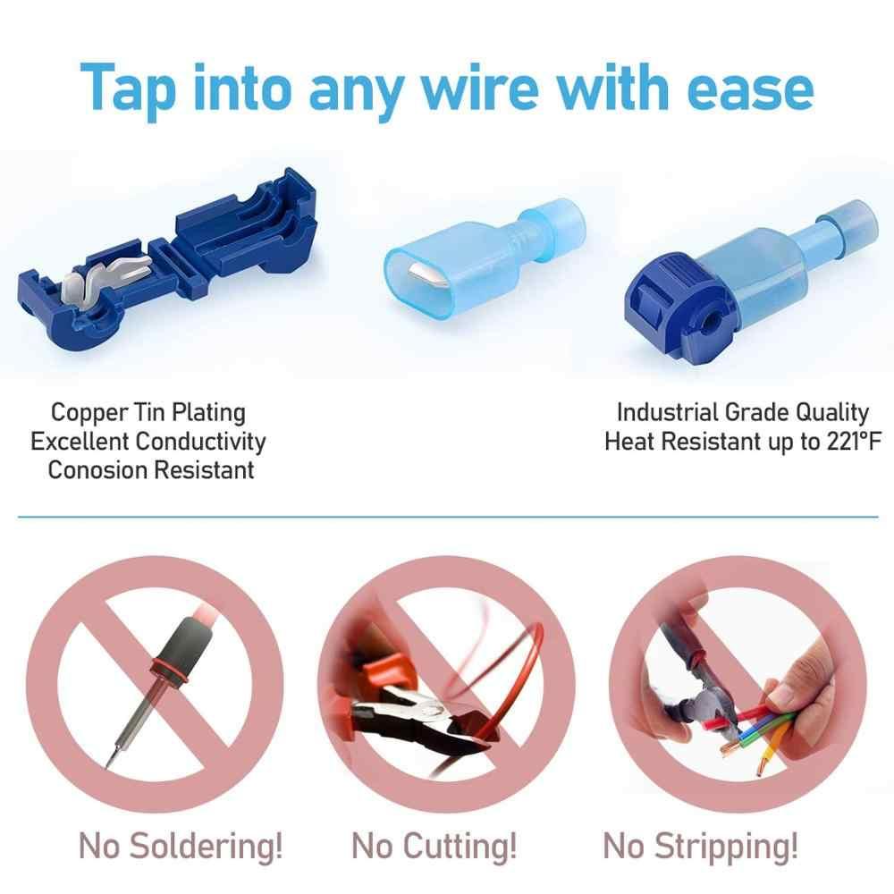 Connecteurs de câbles électriques rapides étanches, connexion de fils à sertir, 50 pièces (25 ensemble)