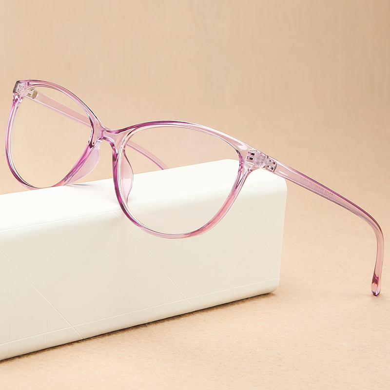 KOTTDO Vintage Cat Eye Women Glasses Frame Retro Student Myopia Eyeglasses Frame Fashion Plastic Transparent Men's Eyewear Frame image