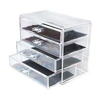 ABUI Acrylic Transparent Makeup Organizer Storage Boxes Make Up Organizer for Brush Organizer Home Storage Drawer Set