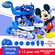 Adjustable Size Children Roller Skates Inline Skating Shoes Flash roller PU Wheels Inline Skates Kids Gifts Roller Sneakers