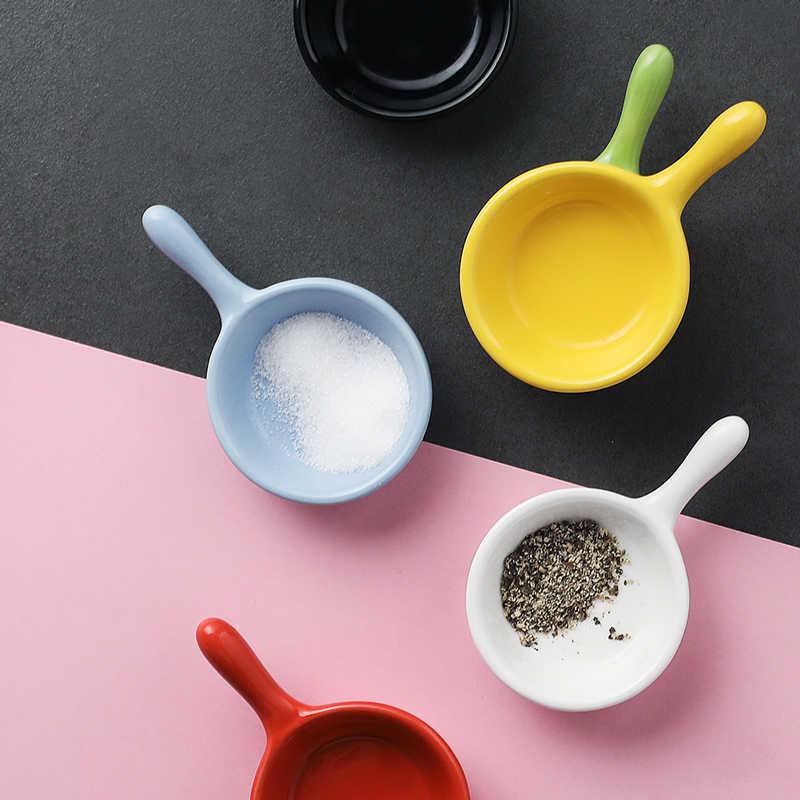 セラミック醤油皿カラフルなミニボウルセットケチャップ醤油皿調味料プレートスタッカブルと Ramekins ハンドルボウル