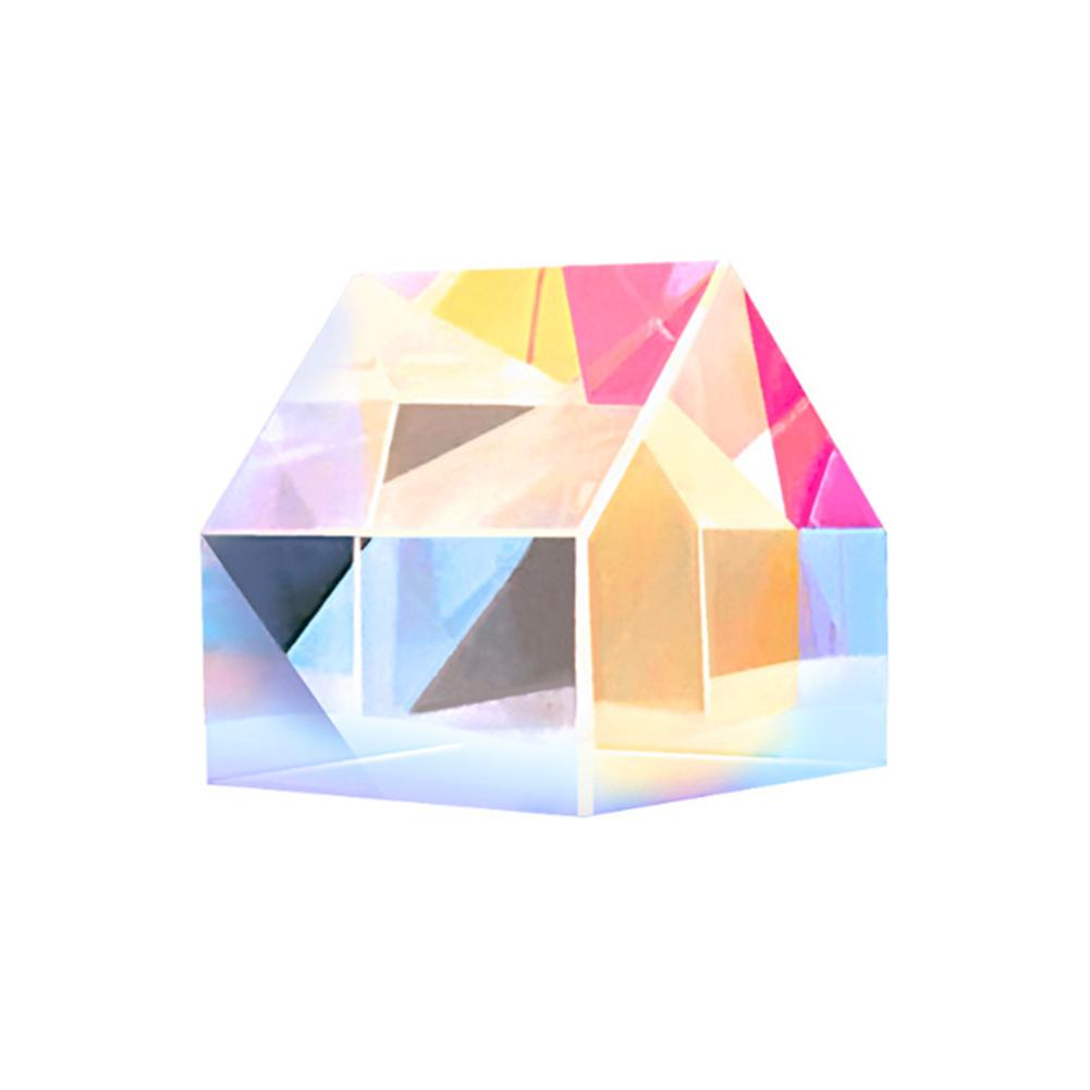 Color-collecting Prism Cube Color Prism Creative Cabin Shape Square Prism Optical Glass Lens Optical Instruments Prism Mirror