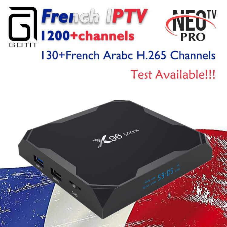 GOTiT X96 Max Android 8.1 TV Box 4G 64G Dual-WIFI + néo France belgique maroc arabe vies et films Smart IPTV Set up Box