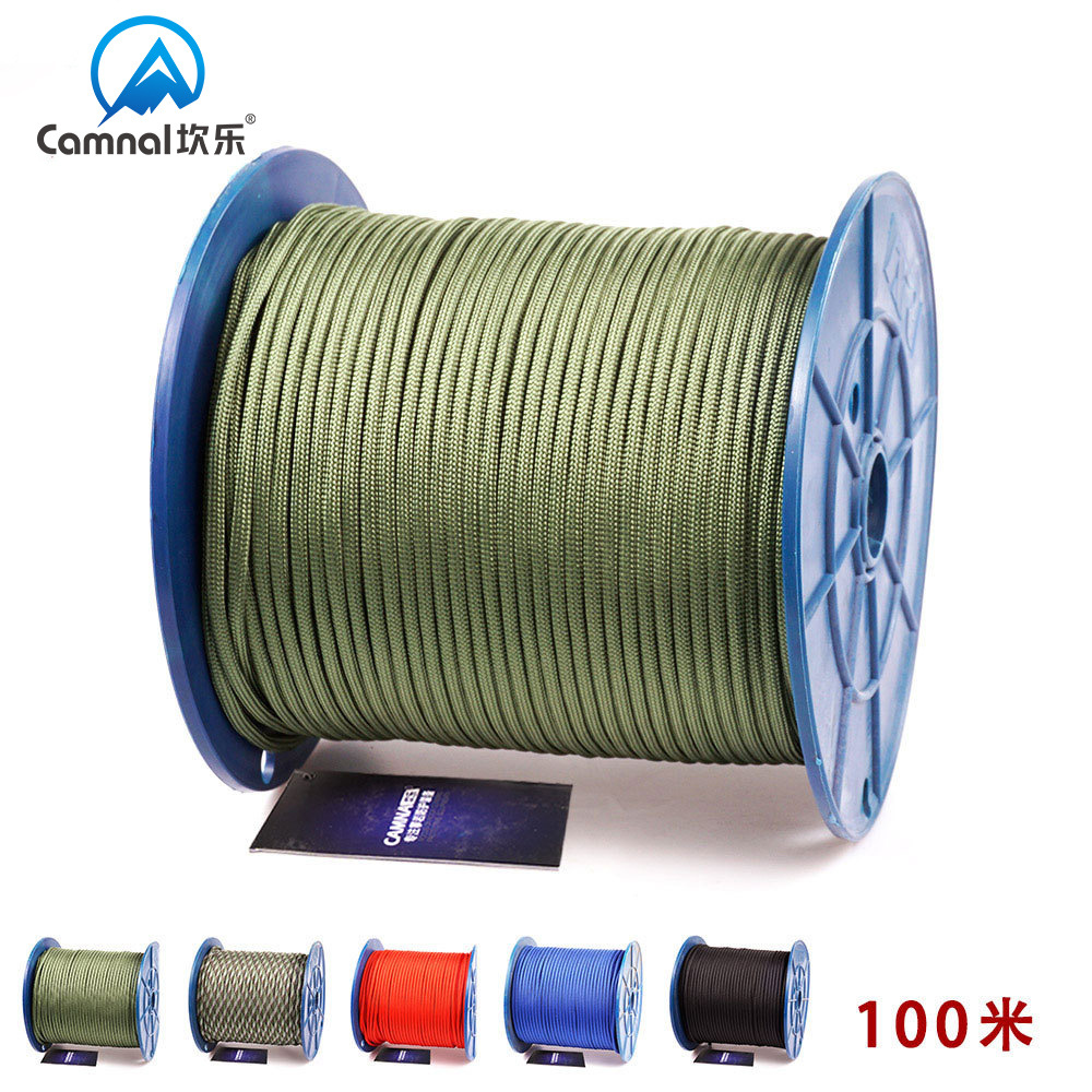 Kan Le Military Standard 9-Umbrella Rope Outdoor Mountain Climbing Rope Lifesaving Connecting Rope For Fishing Rod Equipment Saf