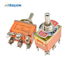 Oranye 6-Pin On-Off-On Toggle Switch 15A 250V 3 Posisi Mini Switch E-TEN1322 Alat kontak Tembaga dengan Tahan Air Cap(China)