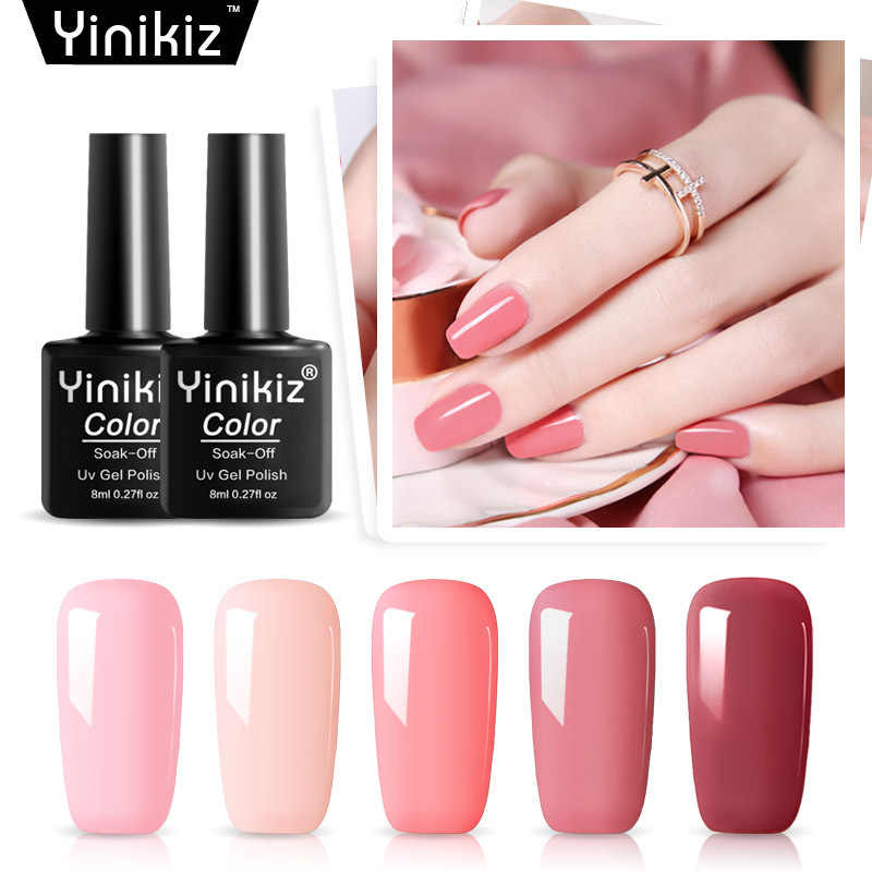 Mode 40 Kleuren 8Ml Nagellak Gel Lak Hybrid Uv Voor Manicure Off Gellak Wit Prime Nail Art Gel extension Nagellak