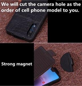Image 5 - ビジネス本革縦型フリップ電話ケース Huawei 社の名誉 9/Huawei 社の名誉 9 Lite 垂直電話ケースとダウンカバー