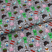 100%Cotton-Fabric Slipcover Backpacks Game Craft Patchwork Diy-Material Cartoon Hometextile