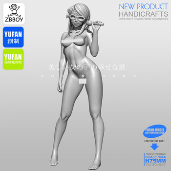 1/24 Resin Kits Beautiful girl resin soldier Self-assembled TD-201947 1 24 resin kits tokyo beauty girl soldier series resin soldier 75mm self assembled a 034