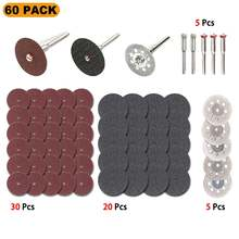 60 шт алмазный режущий диск абразивные инструменты шлифовальный