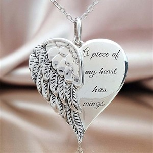 New Love Heart Wings Pattern Pendant Necklace Elegant Whisper Angel Necklace Women Family Lover Jewelry Accessories(China)