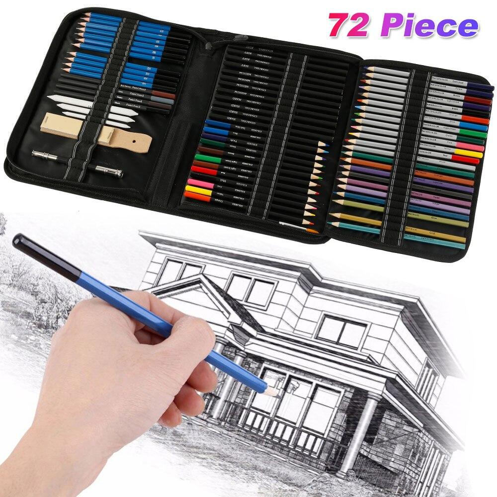 72 pcs lapis de desenho conjunto esboco 02