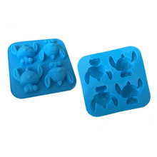 4 Even Cartoon Stitch Stitch Star Baby Silicone Cake Mold Chocolate Handmade Soap Mold DIY Kitchen Baking Tools