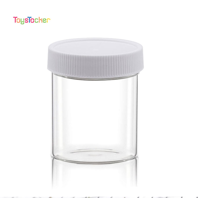 10Pc/120ML Translucent Plastic Container Box For Slime Mud Clay DIY Accessory Slime Box Storage Box Bottle With Lid Slime Tool