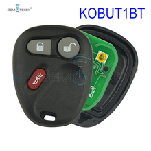 Remotekey KOBUT1BT/KOBLEAR1XT 315Mhz 3 Buttons Keyless Entry Remote Key Fob  for GMC Chevrolet car key fob 4 buttons auto keyless entry remote car key shell case fob for buick pontiac g5 g6 chevrolet rubber pad replacement car covers