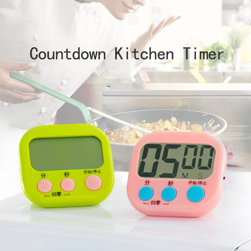Magnetic LCD Digital Kitchen Countdown And Count Up Timer Clock Practical Cooking Timer Alarm Clock For Egg Soup Cooking Alarm