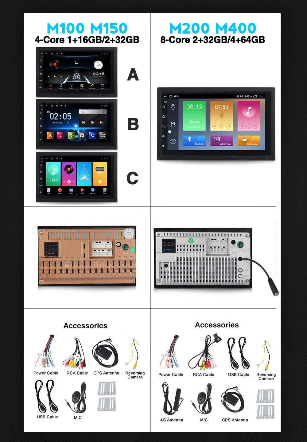 MEKEDE araba multimedya oynatıcı Android 10.0 araba radyo stereo DVD OYNATICI Nissan Toyota KIA 2din evrensel wifi RDS SWC BT