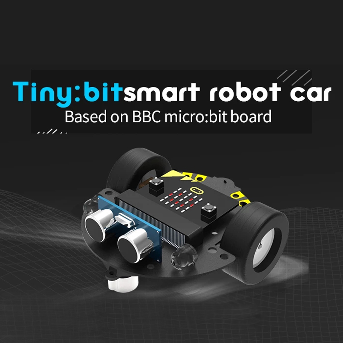 DIY Obstacle Avoidance Smart Programmable Robot Car Educational Learning Kit without Mainboard for Micro bit Gift for Children in Programmable Toys from Toys Hobbies