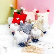 Шерстяная милая кукла гном, Рождественская кукла, подвеска, подвесные украшения на елку для домашнего декора, navidad, рождественский подарок