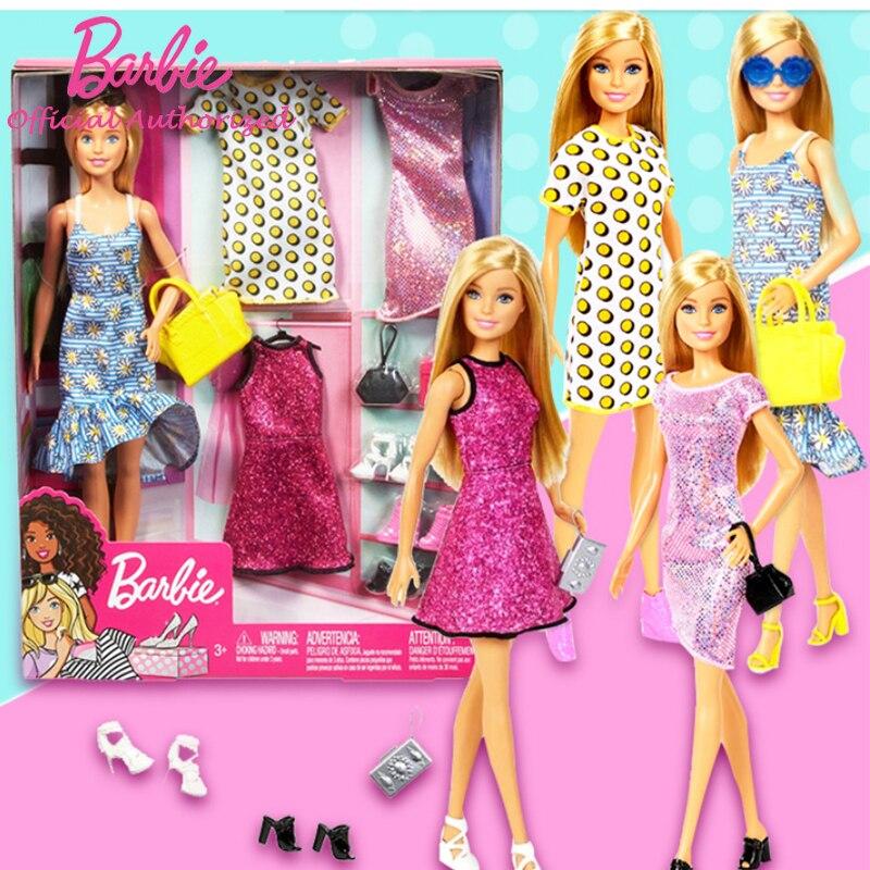 Original Barbie Puppe Prinzessin Sortiment Fashionista Mädchen bonecas Große Geschenk Box Party Set GDJ40 Design Ändern Mädchen Hause Spielzeug Geschenk