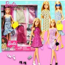 Original Barbie Doll Princess Assortment Fashionista Girl bonecas Big Gift Box Party Set GDJ40 Design Change Girls Home Toy Gift