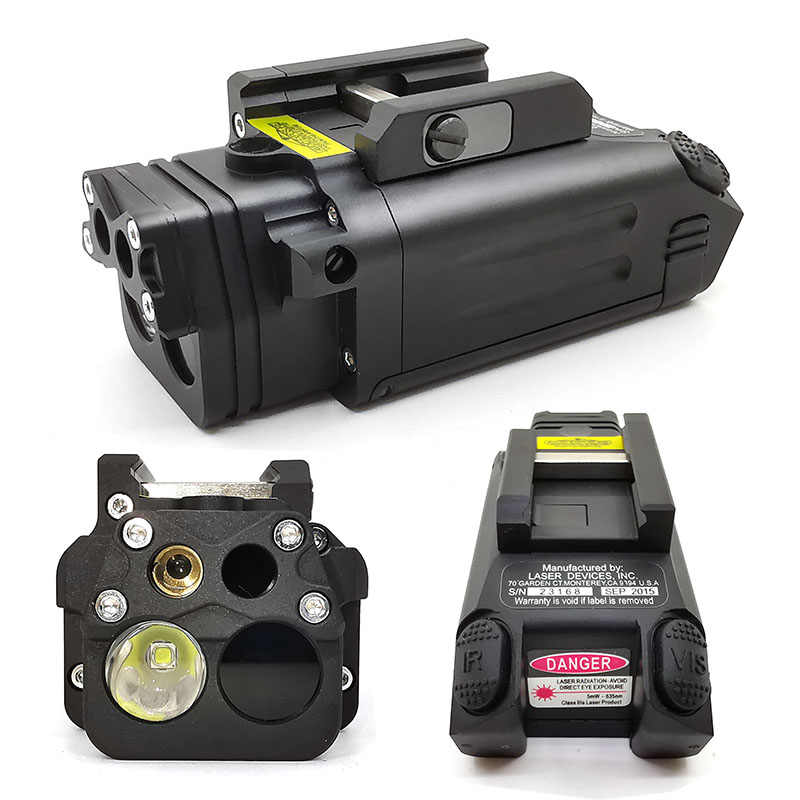 Tactical Hunting Scope DBAL-PL IR Laserlicht Combo Strobe Wapen Licht LED Gun Tac Zaklamp Met Rode Laser NV Illuminator