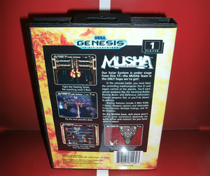 Image 2 - MD games card   MUSHA US Cover with Box and Manual For Sega Megadrive Genesis Video Game Console 16 bit MD card