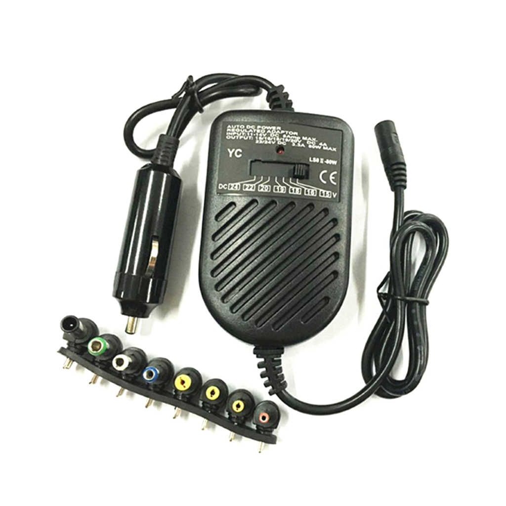 DC 80W Car Auto Universal Charger Power Supply Adapter Set Voor Laptop Notebook Drop Ship Ondersteuning