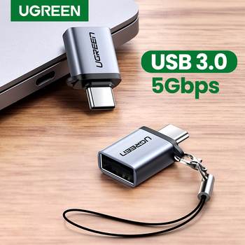 Ugreen USB C Adapter Type C to USB 3.0 Adapter Thunderbolt 3 Type-C Adapter OTG Cable For Macbook pro Air Samsung S10 S9 USB OTG 1
