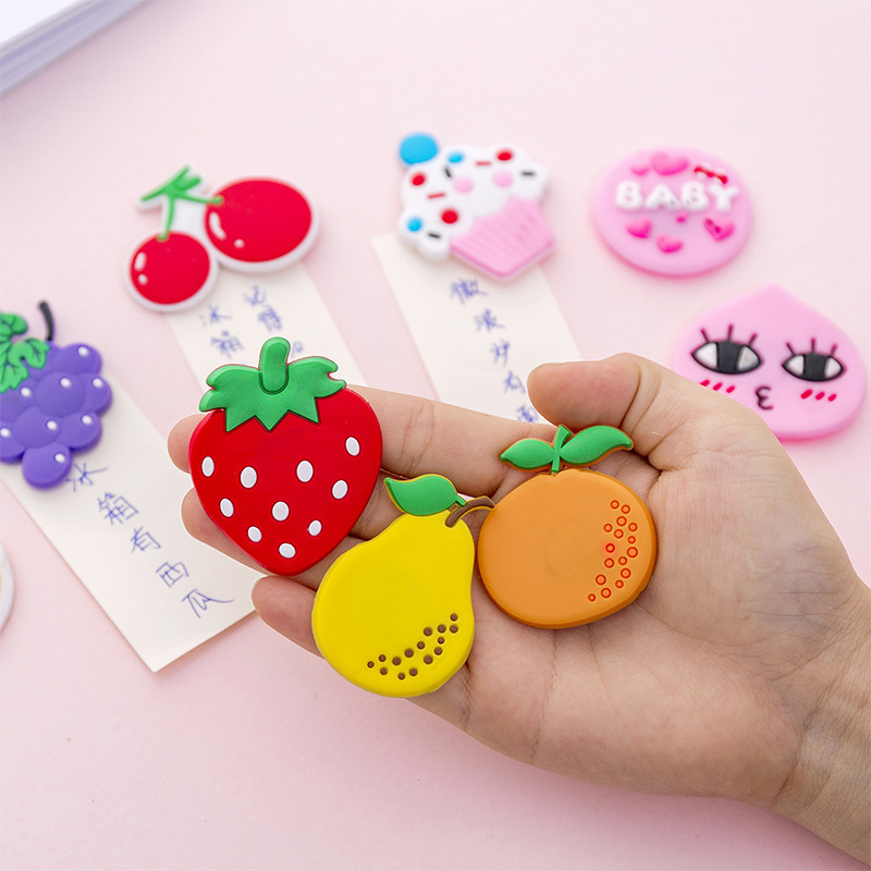 Kawaii Cartoon Fruit Sticker Magnet Fridge Magnets Decor for Refrigerator Children Magnets Message Board Magnet Home Decoration(China)