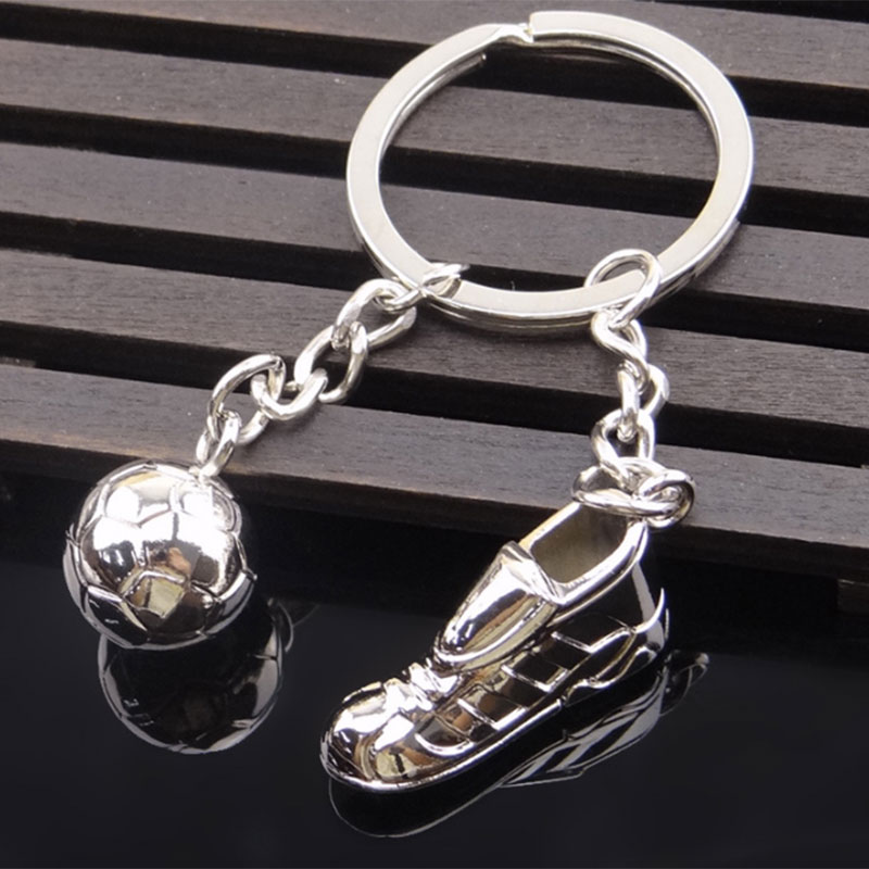 Soccer Shoes Keychain Sports Football Key Rings For Car Purse Bag Buckle Key Chain For Sport Fans Football Jewelry