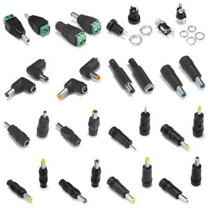 5pcs Female Male DC Connector 5.5*2.1MM 5.5*2.5MM 3.5*1.35MM 5.5*2.1 Jack Plug Adapter For CCTV Camera LED Lamp AC DC Adapter
