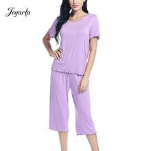 Joyaria Pajamas for Women Short Sleeve Pajama Set