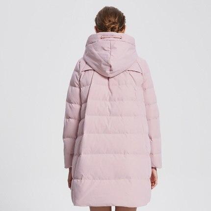 Fashion Winter 90% Down Jacket Women Coat Long Parka Elegant Overcoat Hooded Plus Size 3XL Abrigos Mujer LX1066
