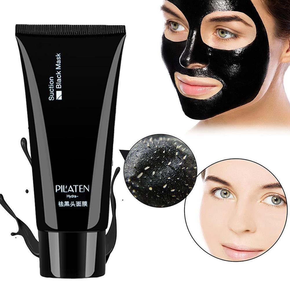 Face Minerals Mud Blackhead Remover Mask Membranes Pore Strips Clay Cleaner Blackhead Black Mask Remover Mask Nose Pilaten E2R3