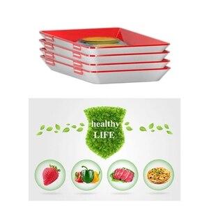 Image 5 - Promotion! Plateau intelligent alimentaire créatif en plastique plateau de conservation articles de cuisine alimentaire stockage conteneur ensemble nourriture frais stockage Micro