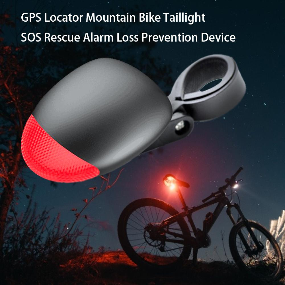 Gps-Locator Bicycle Anti-Theft-Device Mountain-Bike Sos-Rescue-Alarm Taillights