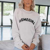 2019 Fashion Hot Sales Droppshiping Women Lady Long Sleeve Round Collar Letters Sweatshirt Top Pullover for Autumn Winter J55