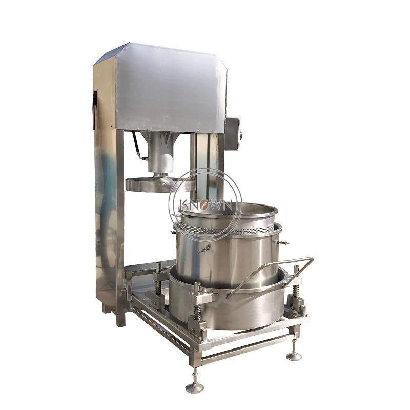 Industrial de acero inoxidable automático de frutas vegetales de un solo barril de filtro hidráulico exprimidor máquina de prensa envío gratis