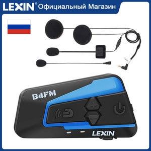 Image 1 - Lexin LX B4FM 4 Riders 1600M Bluetooth Intercomunicador Moto,รถจักรยานยนต์อินเตอร์คอมชุดหูฟังวิทยุFM BTชุดหูฟังIntercomunicadores De casco Moto