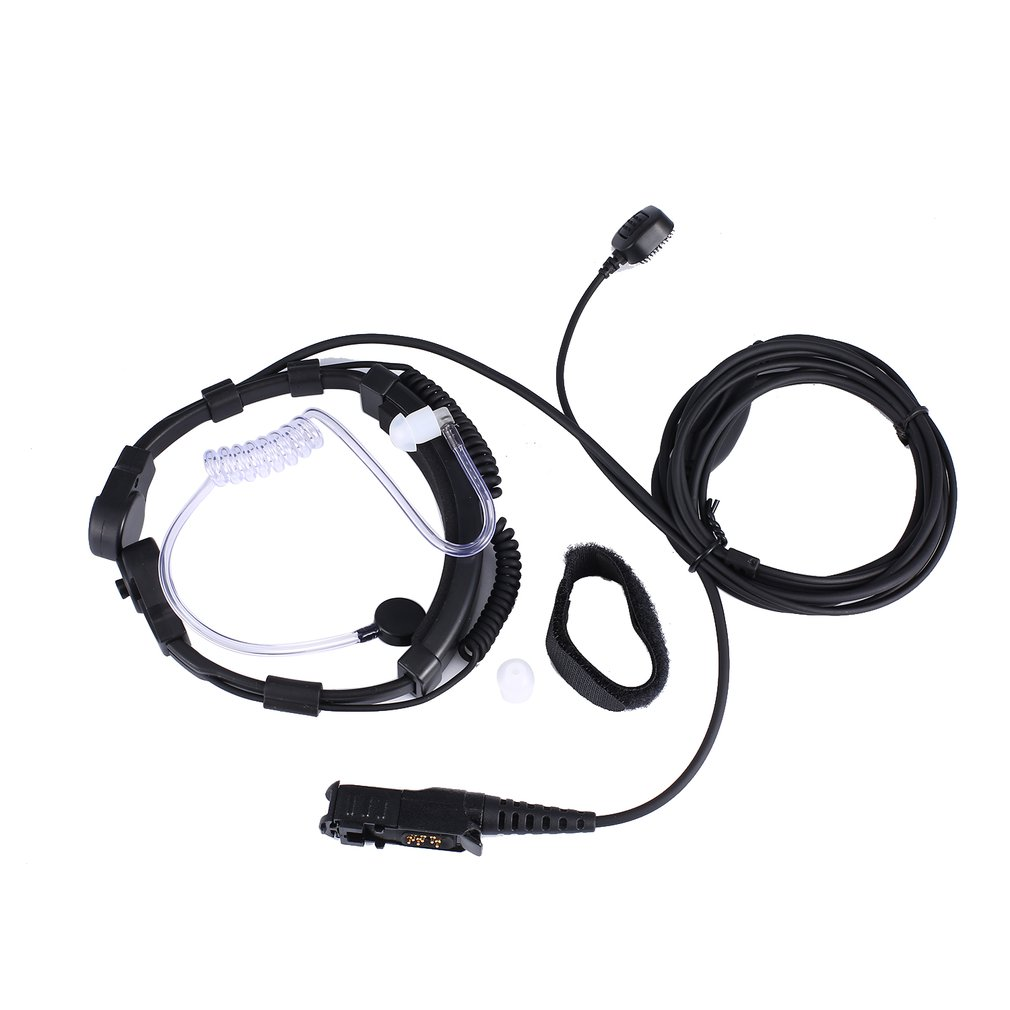 XQF Throat Mic Microphone Air Tube Earpiece PTT Earphone For Motorola Tetra Walkie Talkie MTP3250 MTP3100 DP2400 CB Radio