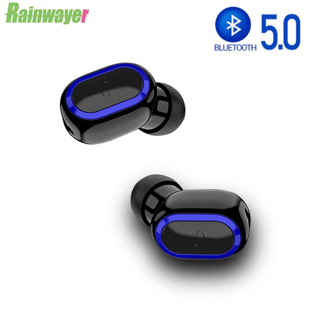 Мини 5,0 Bluetooth беспроводные наушники, спортивные наушники-вкладыши, Спортивная гарнитура для iPhone 11 XR Xiaomi Redmi Phone